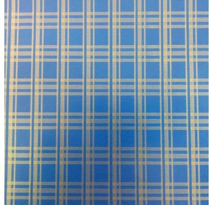 papel de embrulho liso azul riscas douradas