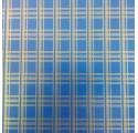 Blå almindeligt papir indpakning gyldne striber