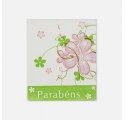 Fund congratulations sticker label with beige prints various colors