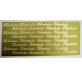 Folha etiquetas dourada relevo Felicidades