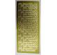 Folha etiquetas dourada relevo Feliz Aniversário