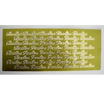 Gold embossed foil labels Congratulations