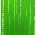 Papel de regalo liso verde con rayas y círculos