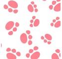 Papel de envolver blanco liso con huellas4 rosadas