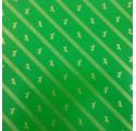 Papel de regalo verde liso con caballos y líneas oro