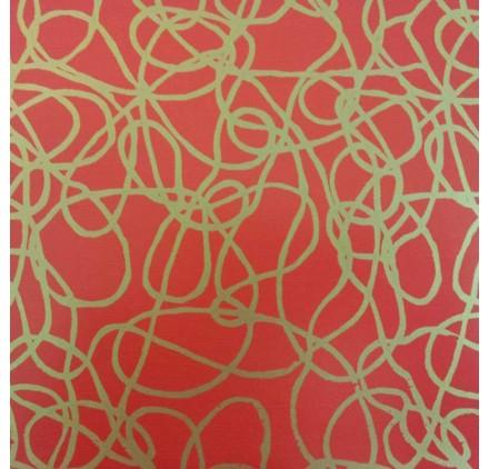 papel de embrulho lisovermelho linhas douradas