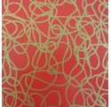wrapping paper lisovermelho golden lines