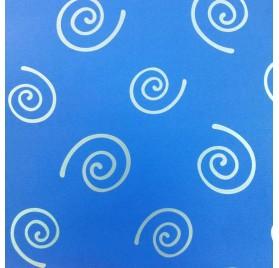 papel de embrulho liso azul espirais prata