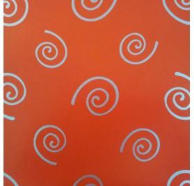 papel de embrulho liso vermelho espirais prata