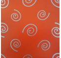 plain wrapping paper red spiral silver