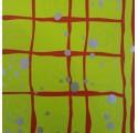 papel de embrulho liso verde claro manchas prata