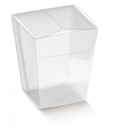 Caixa acetato transparente bicchierino 33x33x50mm