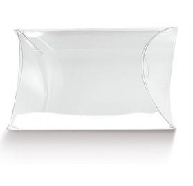 Box palline bianche per 1 bottiglia con finestra