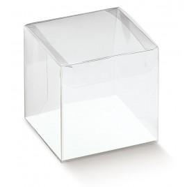 Caixa acetato transparente scatto 50x50x80mm