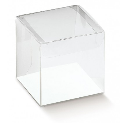 Caixa acetato transparente scatto 90x90x90mm