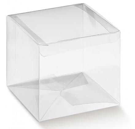 Caixa acetato transparente automatico 55x55x180mm