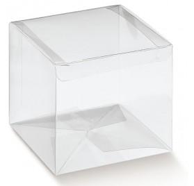 Caixa esferas brancas para 1 botella con ventá