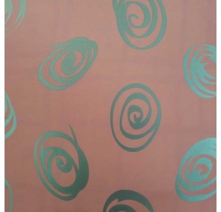 papel de embrulho liso rosa espirais prata
