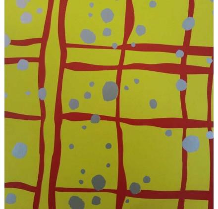 papel de embrulho liso amarelo manchas prata