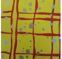 Plain inslagning papper gul silver fläckar