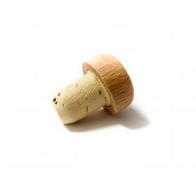 Miniatuur hout capsule 40-50 ml