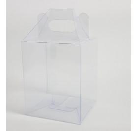 Caixa transparente para frascos
