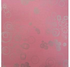papel de embrulho liso rosa bolas prata