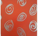 Klarpackpapier rote Spirale Silber