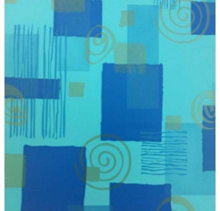 papel de embrulho liso azul claro quadrados espirais