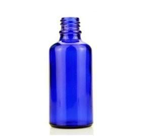 Mėlyna buteliukas 50ml laboratorijoje