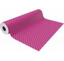 Papel de embrulho rosa com pontos cinza