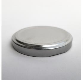 strieborný kovový kryt