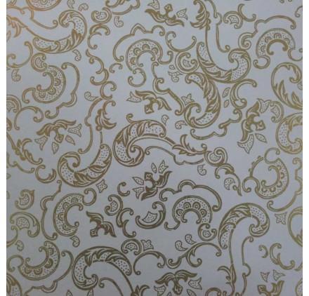 papel de embrulho liso branco ornamentos ouro