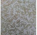 Papel de regalo blanco liso con adornos en oro