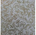paper plain white wrapping gold ornaments