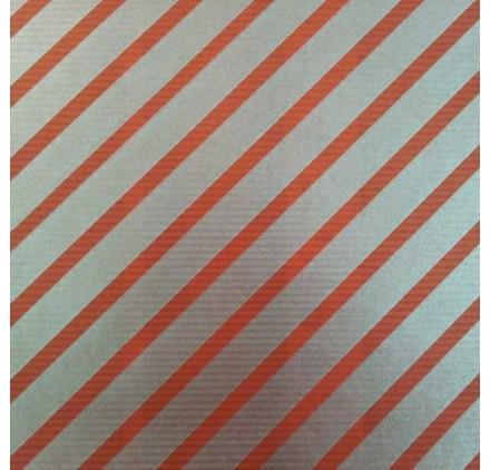 papel de embrulho kraft verjurado natural vermelho risca prata