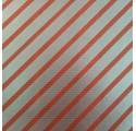 Papel de regalo kraft verjurado natural con líneas rojas y plata