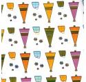papel de embrulho liso branco arvores natal