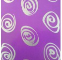papírový obal, hladké fialové stříbrné spirály