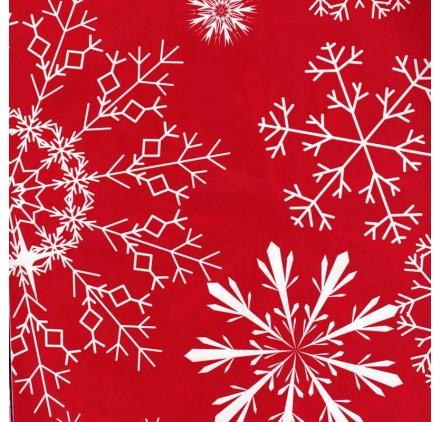 papel de embrulho liso vermelho neve
