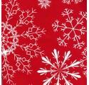 Papel de regalo rojo liso con diseños de nieve