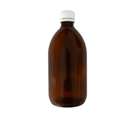 Amber Flask 500ml Wide Opening