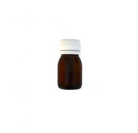 Braune Medizinflasche breit 30ml