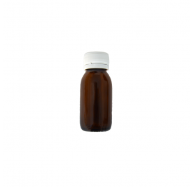 Flacon Bouche Large Ambré 60ml