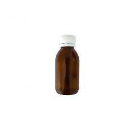 Braune Medizinflasche breit 100ml