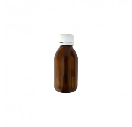 Flacon Bouche Large Ambré 100ml