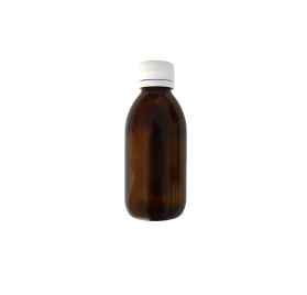 Flacon Bouche Large Ambré 150ml