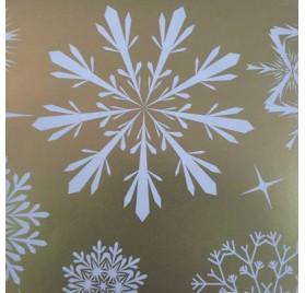 papel de embrulho liso dourado neve