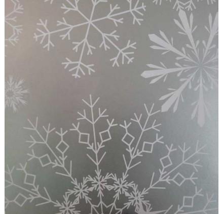 papel de embrulho liso prateada neve