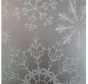 Stříbrná sněhová Plochý balicí papír